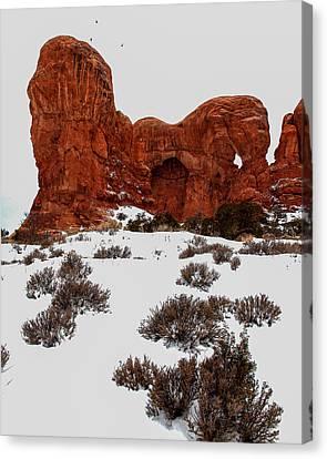Desert Butte Canvas Print by John McArthur