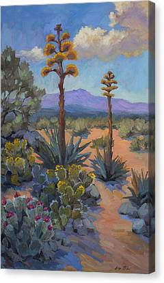 Desert Century Plants Canvas Print by Diane McClary