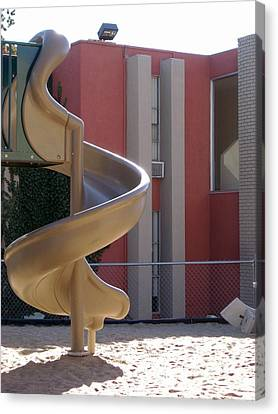 Desert Creek Apts Curves And Lines Canvas Print