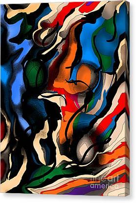 Desert Descent Canvas Print by Jose Benavides