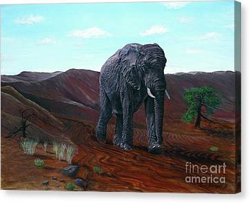Desert Elephant Canvas Print