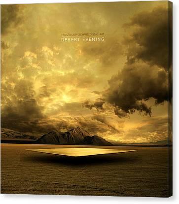 Desert Evening Canvas Print by Franziskus Pfleghart