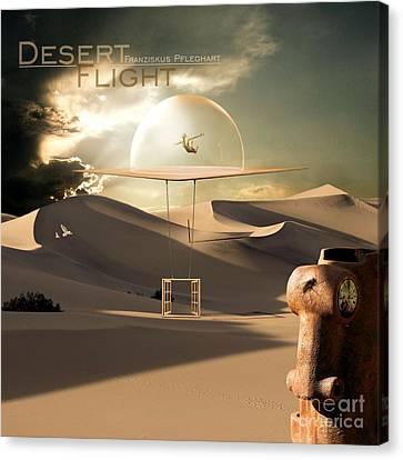 Desert Flight Canvas Print by Franziskus Pfleghart
