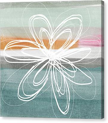 Desert Flower- Contemporary Abstract Flower Painting Canvas Print