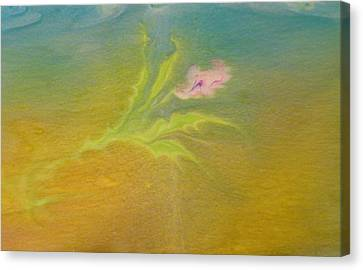 Canvas Print featuring the painting Desert Flower by Mike Breau
