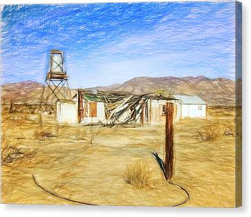 Desert House Canvas Print by Lewis Mann