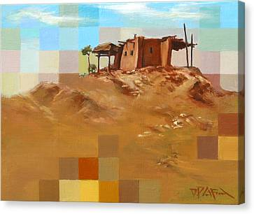 Canvas Print featuring the painting Desert Hut by Dave Platford