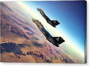 Desert Jolly Rogers Canvas Print by Peter Chilelli