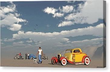 Desert Meeting Canvas Print by Ken Morris