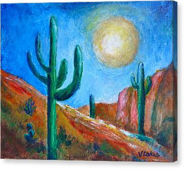 Desert Moon Canvas Print by Victoria Lakes