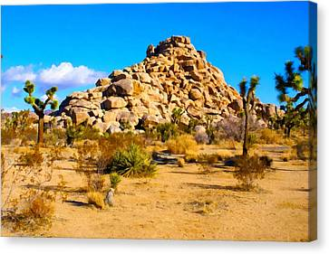 Desert Mound Watercolor Canvas Print by Barbara Snyder