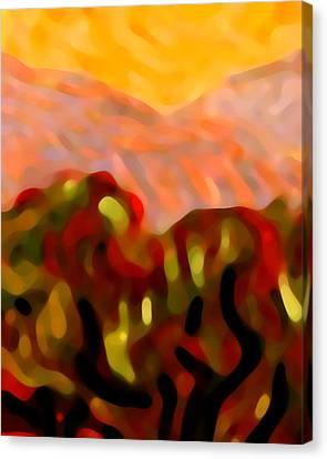 Desert Olive Trees Canvas Print by Amy Vangsgard
