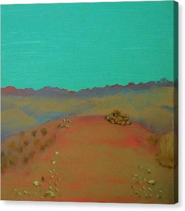 Canvas Print featuring the painting Desert Overlook by Keith Thue