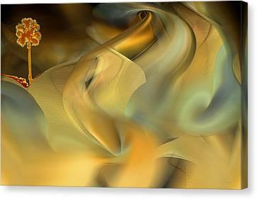 Desert Palm In Sandstorm Canvas Print