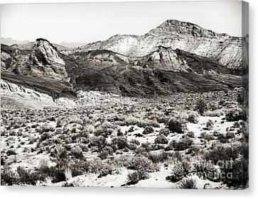 Desert Peaks Canvas Print by John Rizzuto