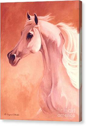 Desert Prince Arabian Stallion Canvas Print by Suzanne Schaefer