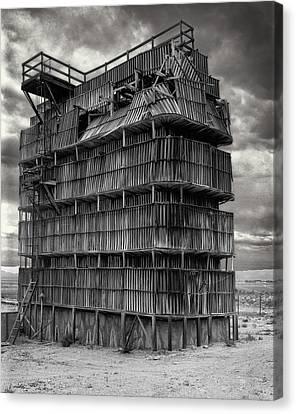 Wooden Platform Canvas Print - Desert Redwood Cooling Tower by Daniel Hagerman