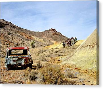 Canvas Print featuring the photograph Desert Relics by Marilyn Diaz