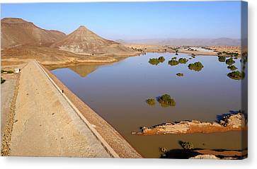 Moroccan Canvas Print - Desert Reservoir by Thierry Berrod, Mona Lisa Production