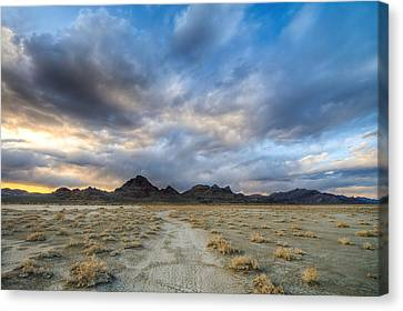 Canvas Print featuring the photograph Desert Road by Dustin  LeFevre
