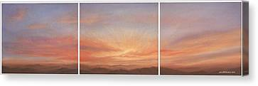 Desert Sky Triptych Canvas Print