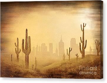 Brown Tones Canvas Print - Desert Skyline by Peter Awax
