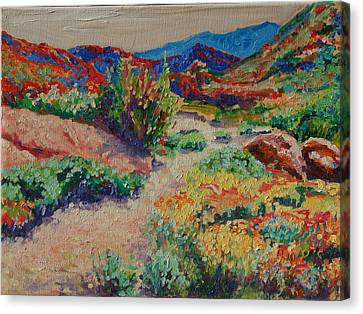 Desert Spring Flowers Namaqualand Canvas Print by Thomas Bertram POOLE