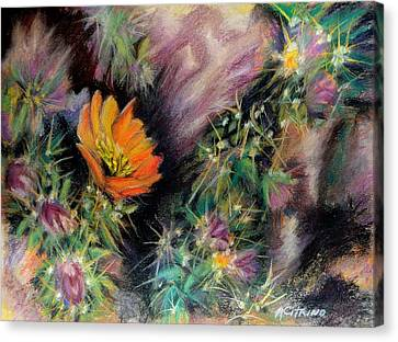 Desert Spring Impression Of   Pastel Canvas Print