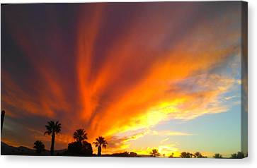 Canvas Print featuring the photograph Desert Storm by Chris Tarpening
