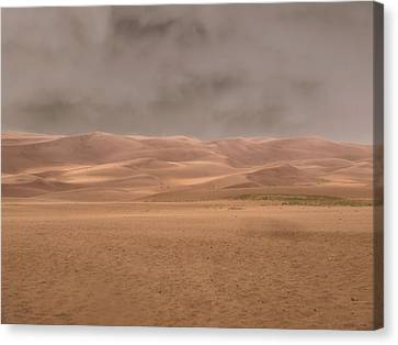 Great Sand Dunes Approaching Storm Canvas Print by Dan Sproul
