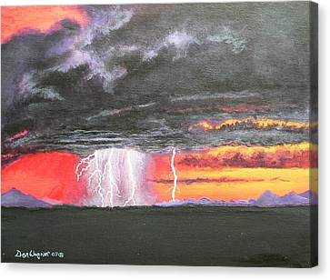 Canvas Print featuring the painting Desert Storm by Dan Wagner