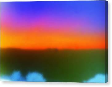 Desert Sun Abstract Canvas Print by Deborah  Crew-Johnson