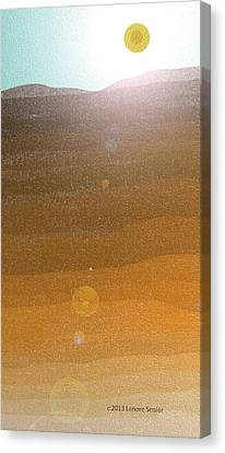 Desert Sun Canvas Print by Lenore Senior