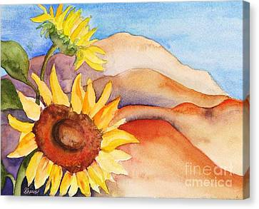 Desert Sunflower Canvas Print