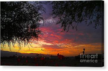 Canvas Print featuring the photograph Desert Sunrise by Chris Tarpening