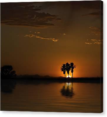 Canvas Print featuring the photograph Desert Sunset by Lynn Geoffroy