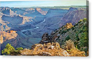 Desert View-morning Canvas Print by Paul Krapf