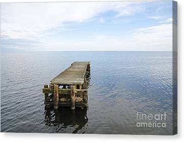Deserted Jetty Canvas Print