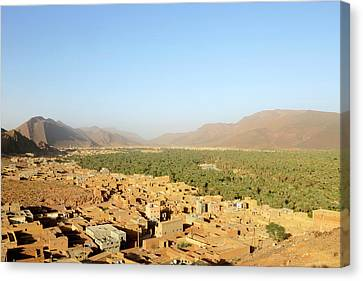 Moroccan Canvas Print - Deserted Oasis Village by Thierry Berrod, Mona Lisa Production