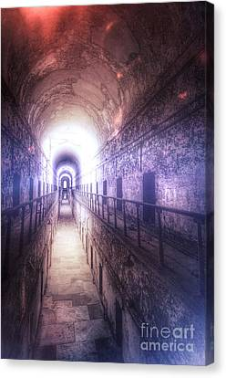 Deserted Prison Hallway Canvas Print
