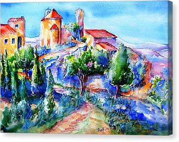 Deserted Village Of Perillos  Canvas Print by Trudi Doyle