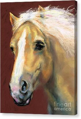 Desi On The Run Canvas Print by Frances Marino