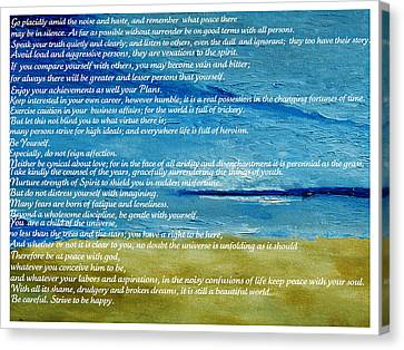 Desiderata Canvas Print by Conor Murphy