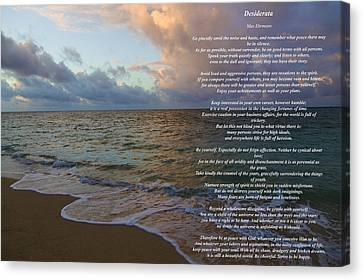 Desiderata Canvas Print by Jon Burch Photography