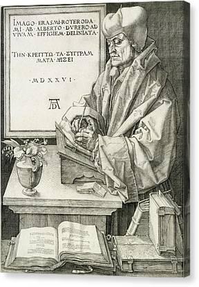 Desiderius Erasmus Of Rotterdam, 1526 Canvas Print