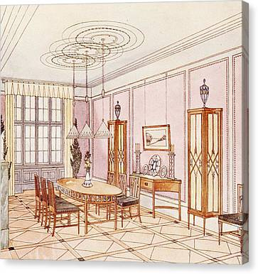 Design For A Dining Room Canvas Print by Paul Ludwig Troost