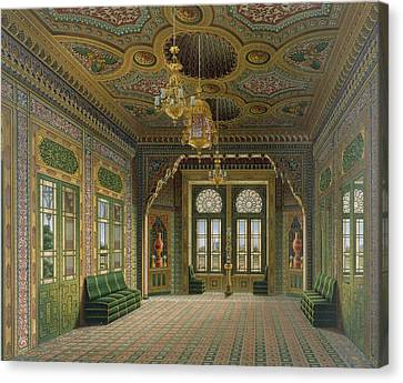 Villa Canvas Print - Design For A Reception Room by Karl Ludwig Wilhelm Zanth