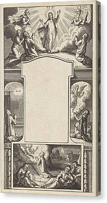 Design For A Title Page, Pieter Serwouters Canvas Print by Pieter Serwouters