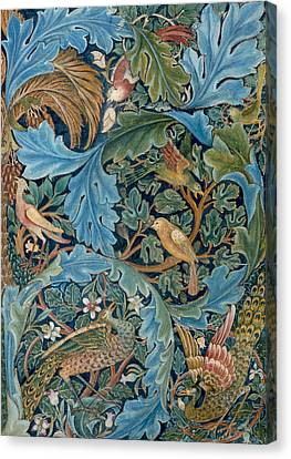 Design For Tapestry Canvas Print by William Morris