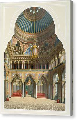 Villa Canvas Print - Design For The Entrance Hall by Karl Ludwig Wilhelm Zanth